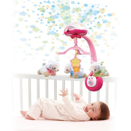 Vtech Lumi mobile Compte-moutons rose