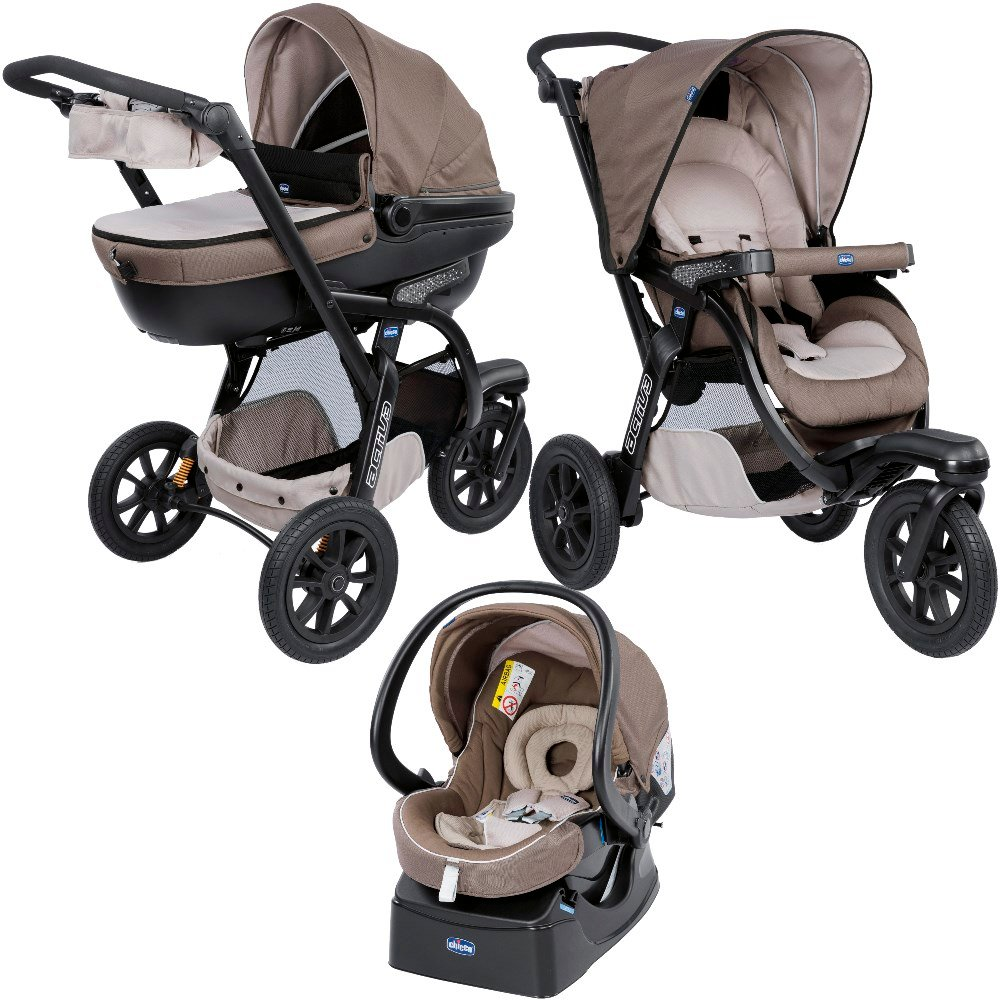 Chicco Pack trio poussette Activ3 Top Dove Grey