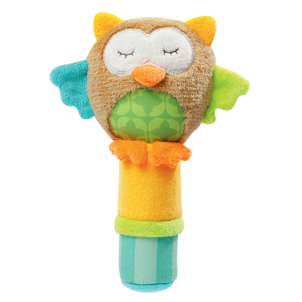 Hochet calin hibou Sleeping Forest