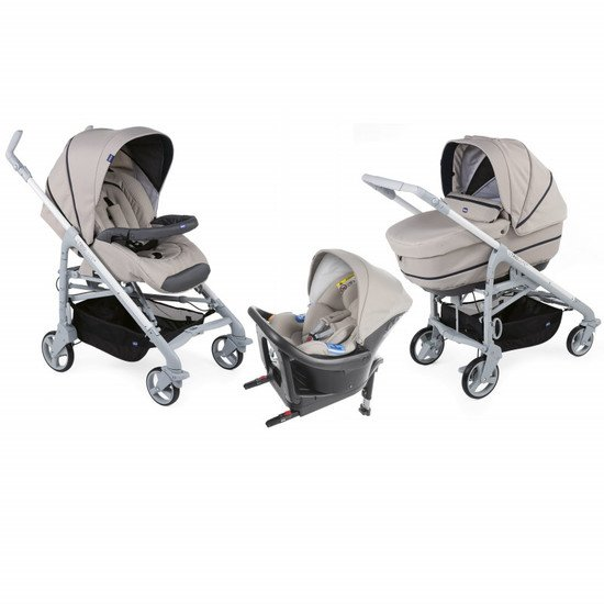 Chicco Poussette Trio Love Up i-Size Bebècare beige