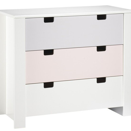 Commode 3 tiroirs sur montants City Girl
