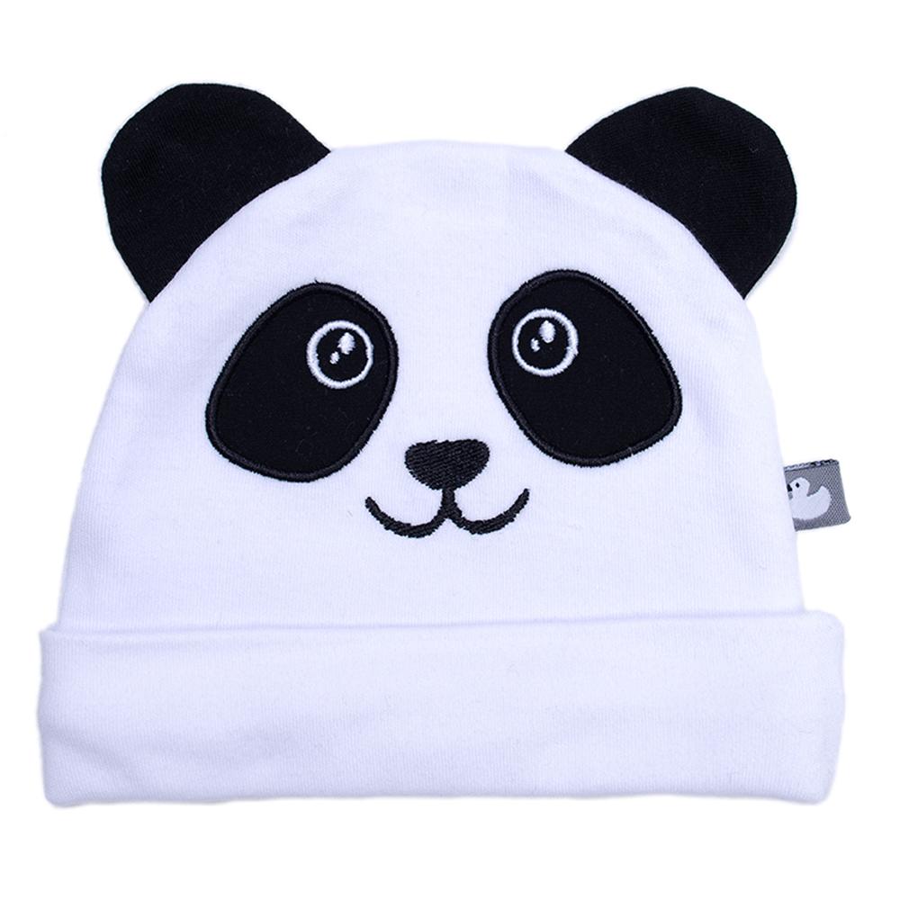 Bonnet naissance doublé pur coton Petit Panda avec oreilles MULTICOLORE BB&Co