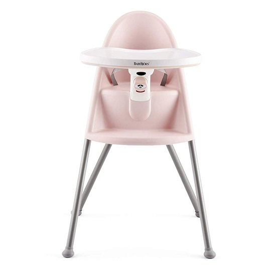 BabyBjörn Chaise haute Rose/Gris