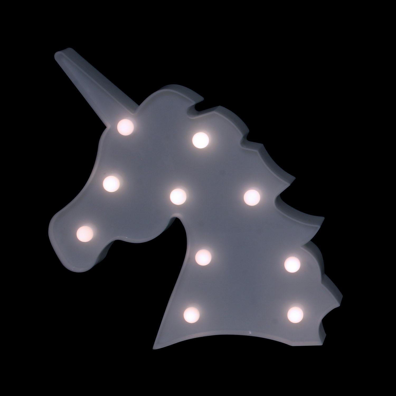 LAMPE LED DECO LICORNE BLANC Hello Kids