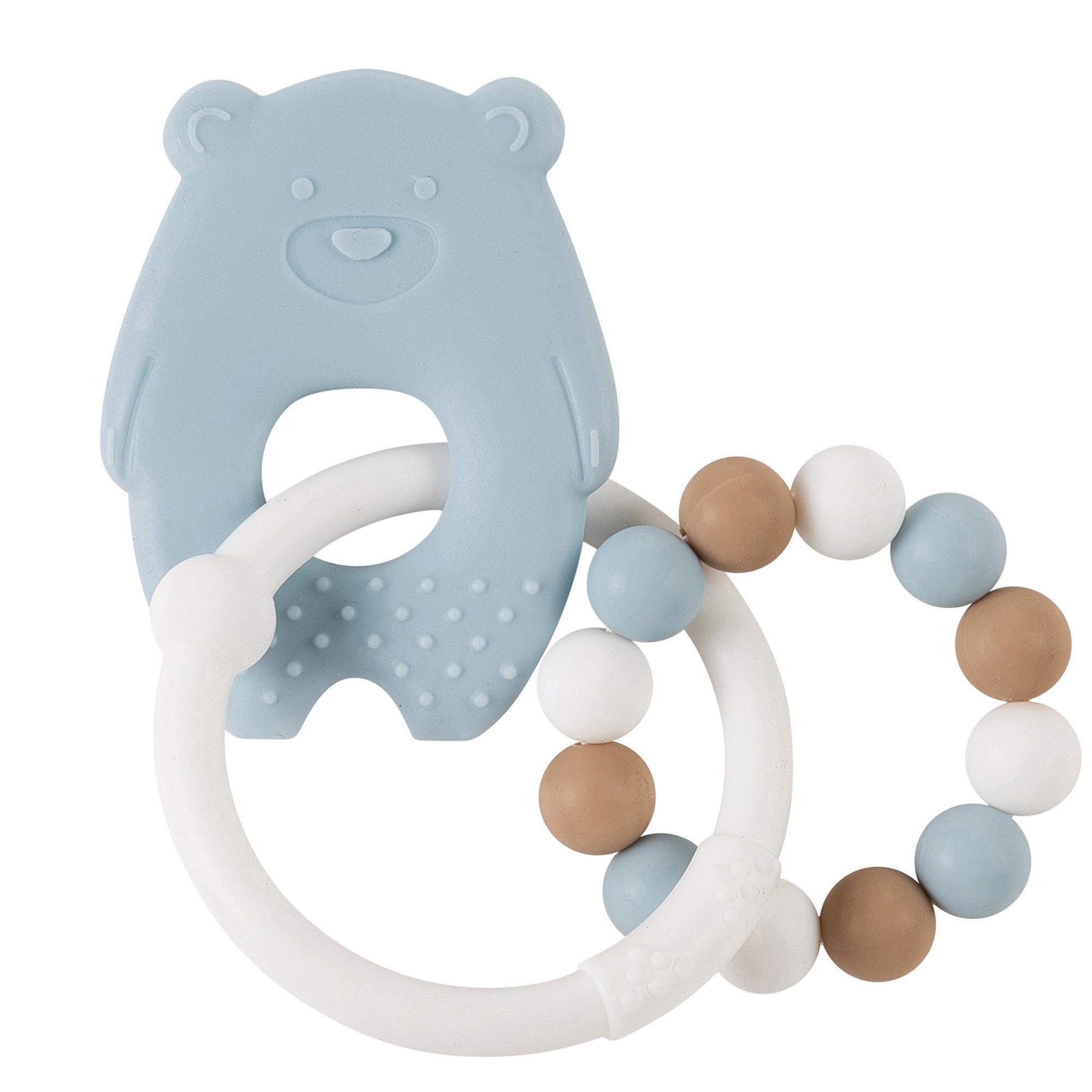 Anneau dentition tout silicone ours BLEU Nattou
