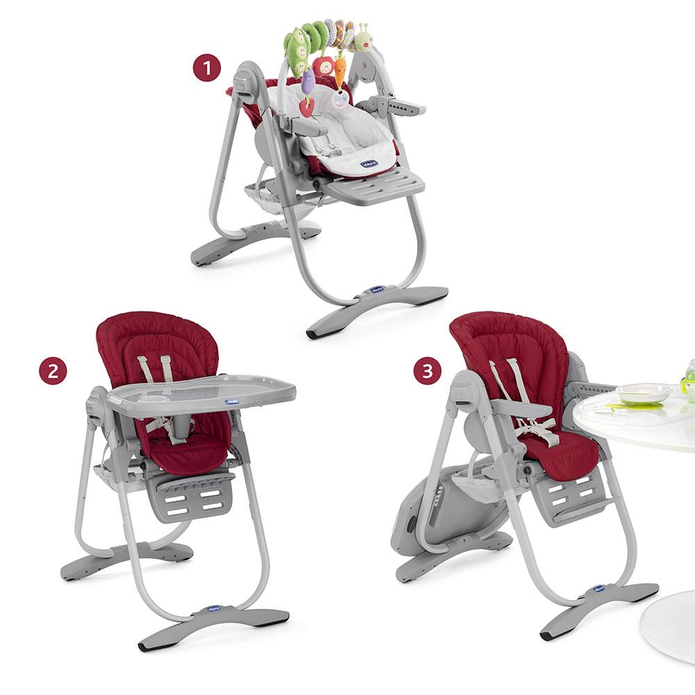 Chaise haute volutive polly magic chicco de chicco - Chaise haute evolutive transat ...