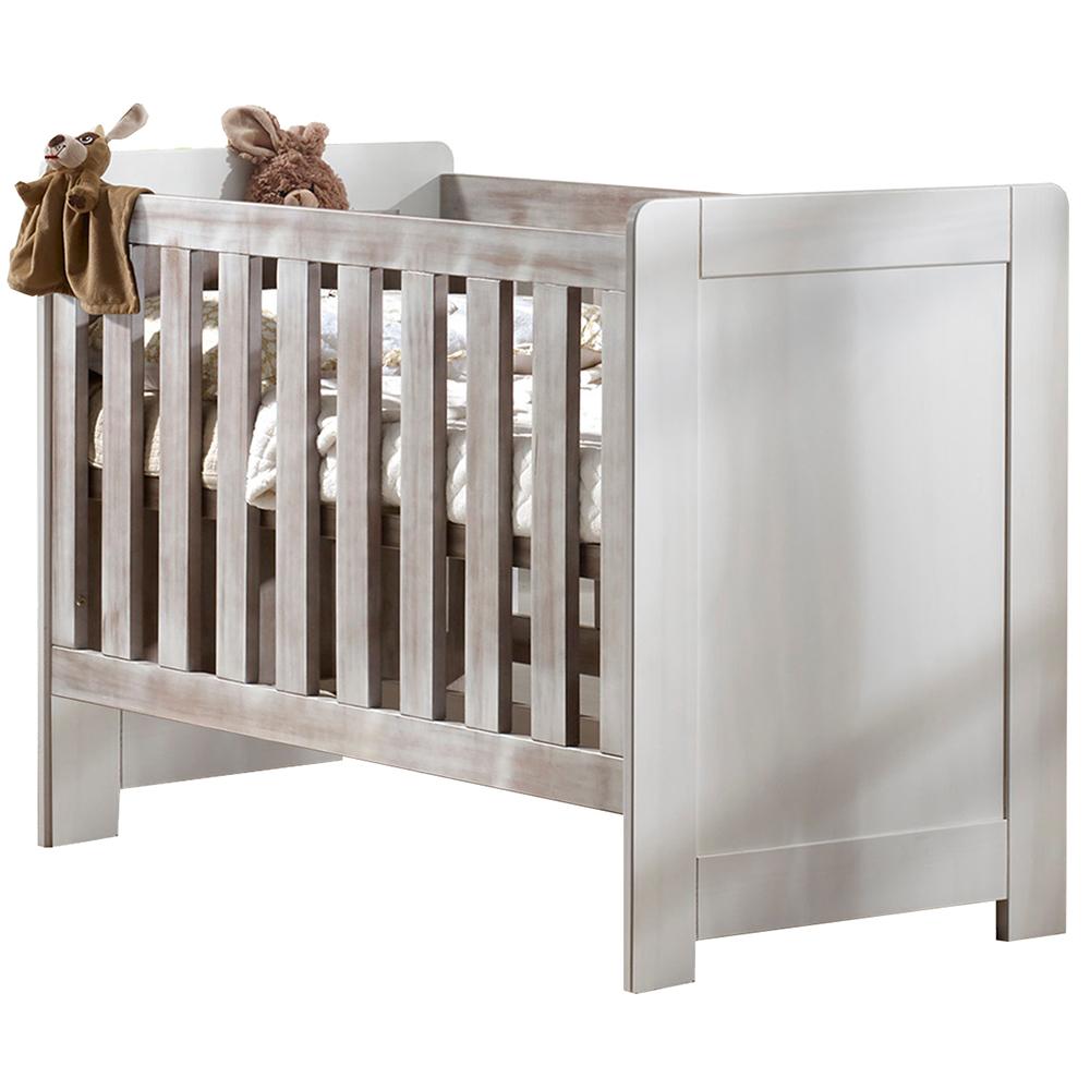 Lit bébé bois massif Lali Lin Brun 60 x 120 cm Simply Malys Duocolor MULTICOLORE La cabane de Calys
