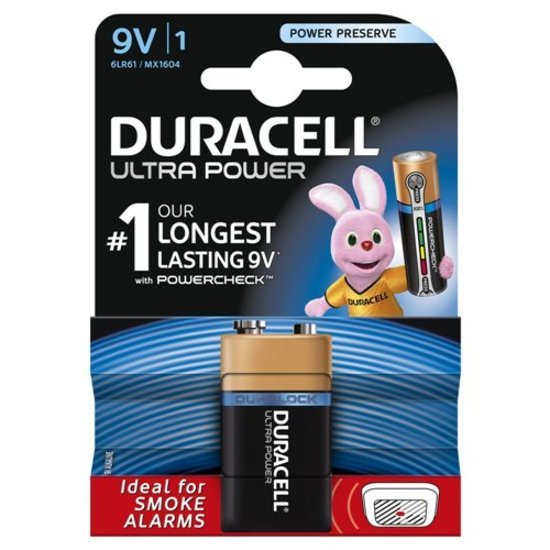 Duracell Pile Ultra power 9V - 6LR61