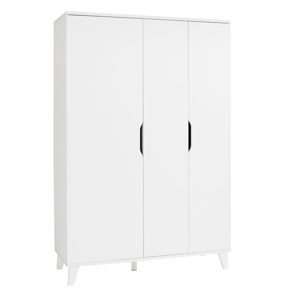 Transland by Paidi Armoire 3 portes Micha Blanc craie