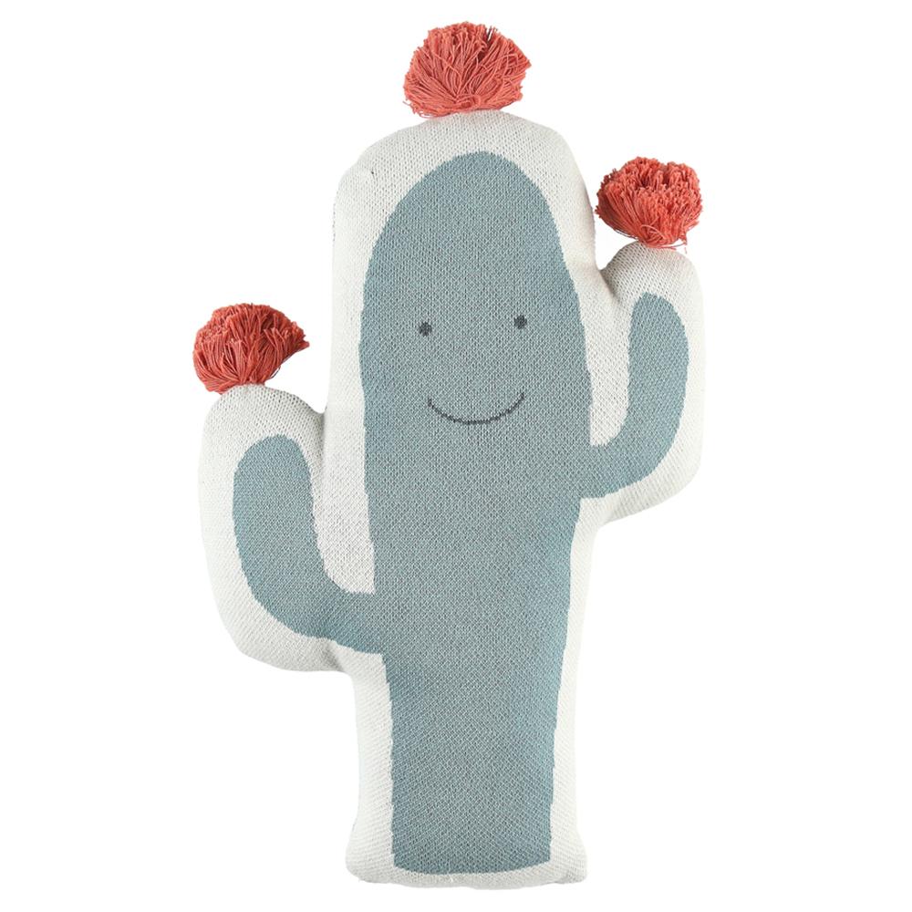 Coussin Cactus Bio Moris & Sacha VERT Noukie's