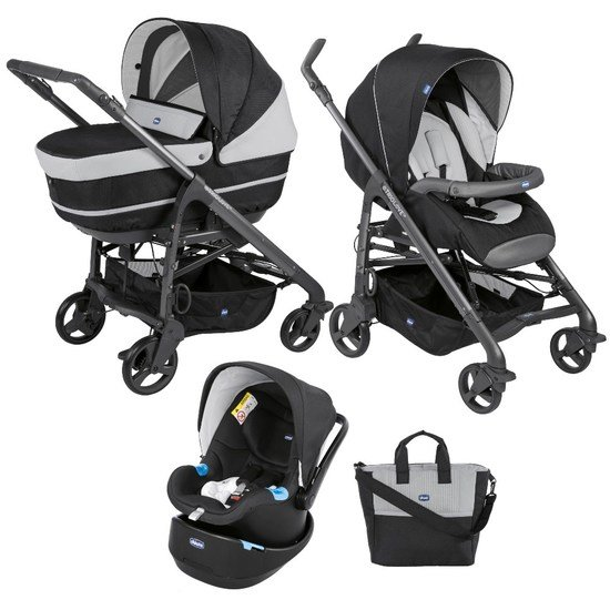 Chicco Pack trio poussette Love Up Bebecare Jet Black