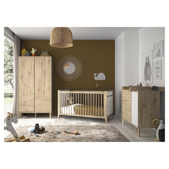 Lit 70x140 + commode +armoire