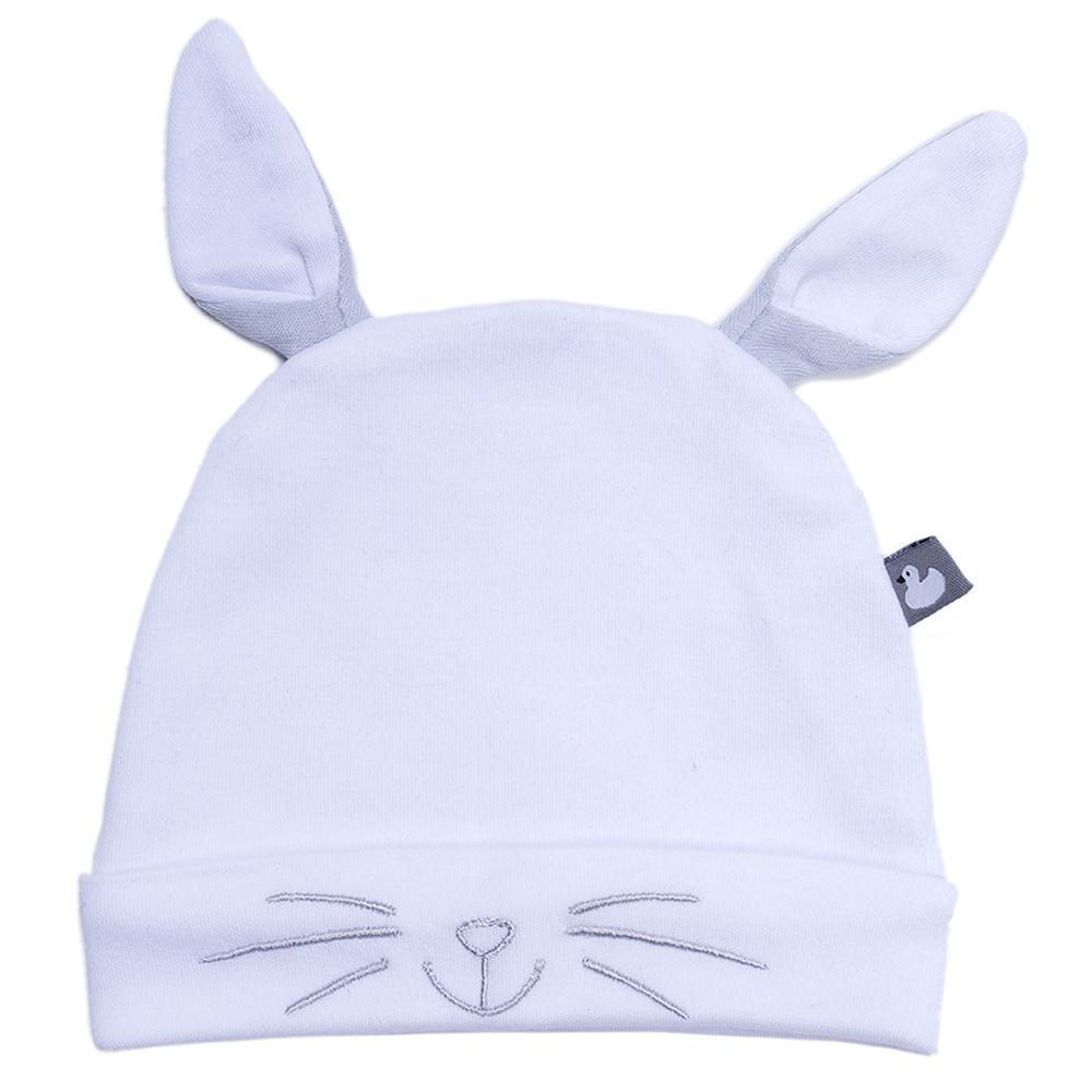 Bonnet naissance doublé pur coton Petit Lapin avec oreilles MULTICOLORE BB&Co