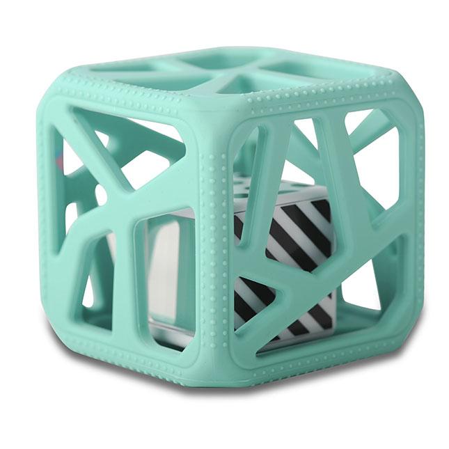 Hochet cube de dentition VERT Malarkey kids