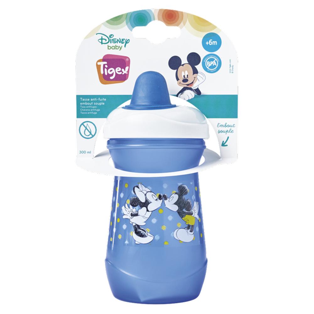 Tasse anti-fuite embout souple 300 ml Mickey BLEU Tigex
