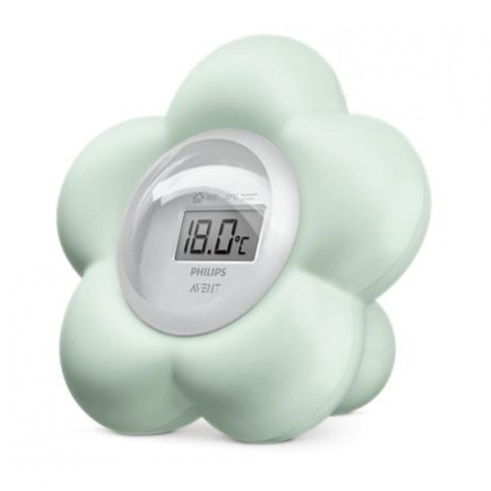 Thermomètre numérique bain et chambre VERT Philips Avent