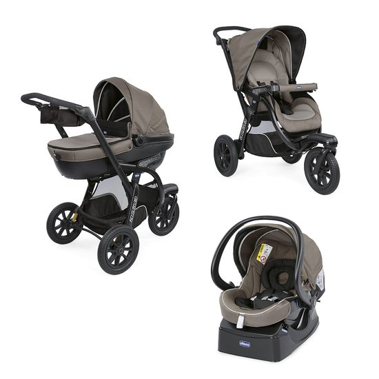 Chicco Pack poussette Trio Activ3 Top dark beige
