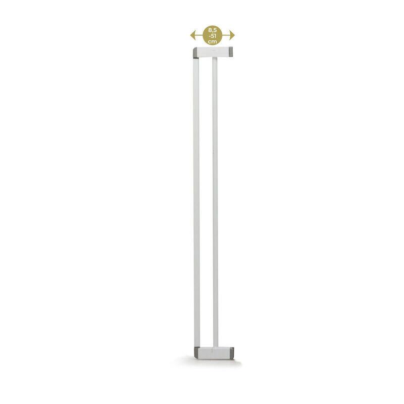Extension 8,5 cm pour barrière 4712 Easy Close Pression Metal - BLANC Geuther