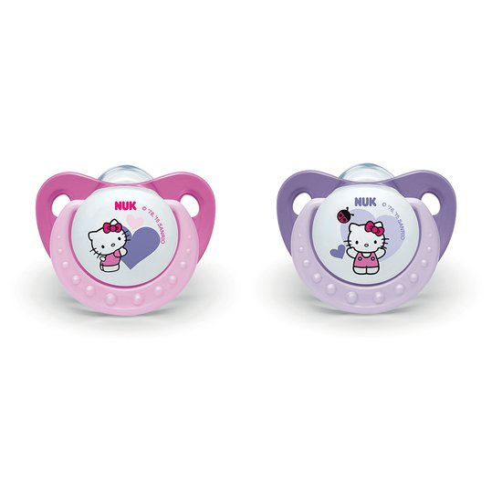 2 sucettes Hello Kitty silicone