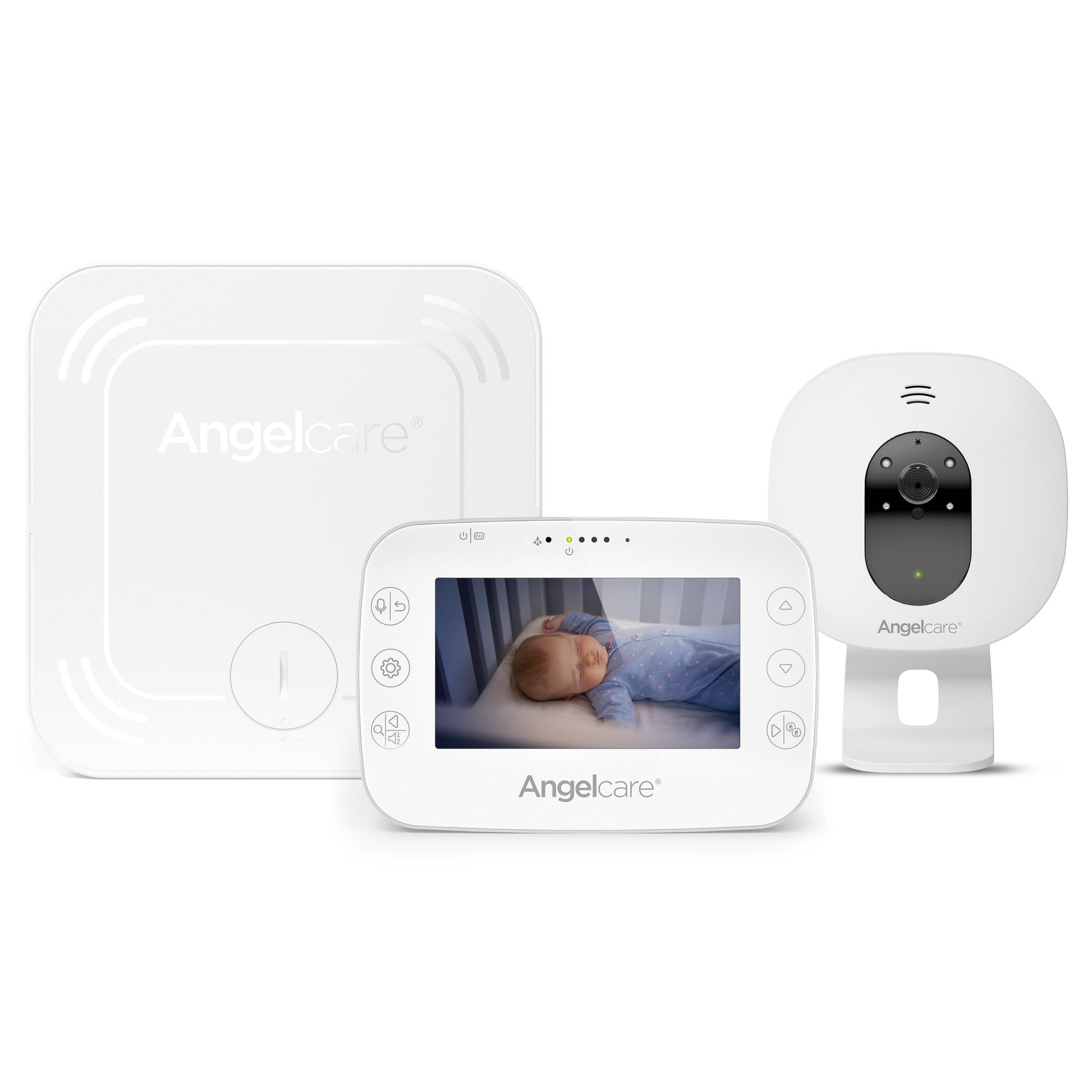 Babyphone vidéo avec détecteur de mouvements AC327 BLANC Angelcare