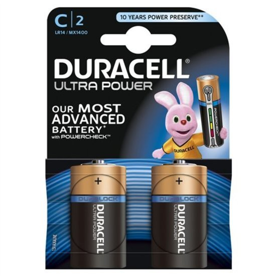 Duracell 2 piles Ultra power C - LR14