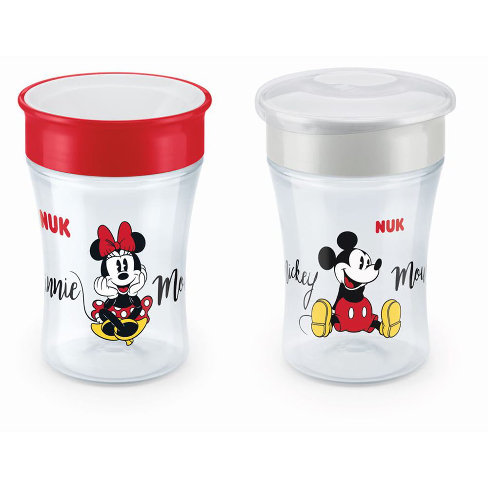 Magic Cup - 360 silicone - Mickey Minnie ROUGE Nuk