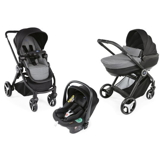 Chicco Pack poussette trio Best Friend Comfort i-Size stone