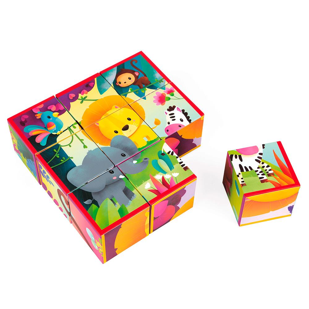 Jeu 9 cubes Animaux